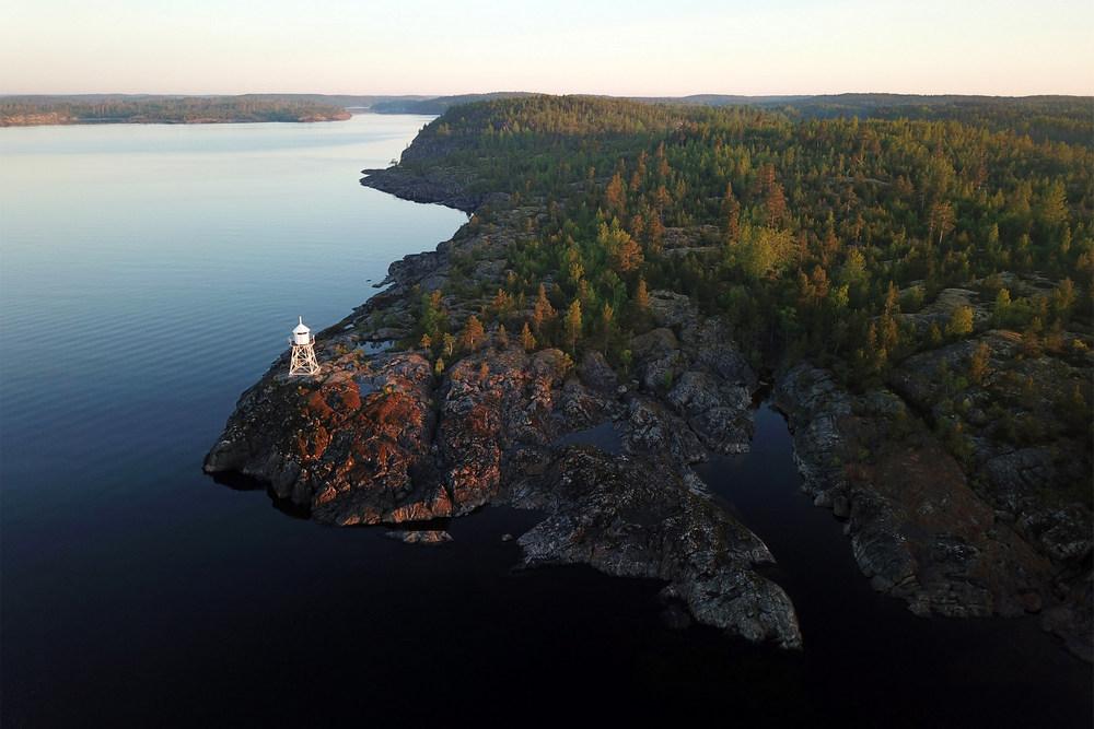 Мыс Куркиниеми на Ладожском озере